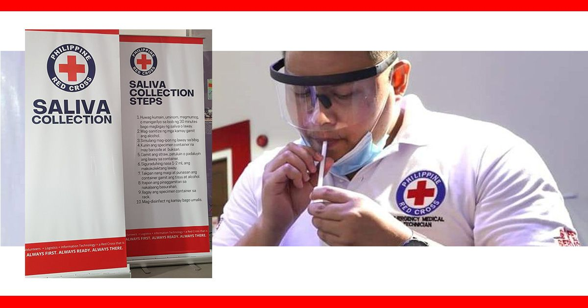 red cross saliva test