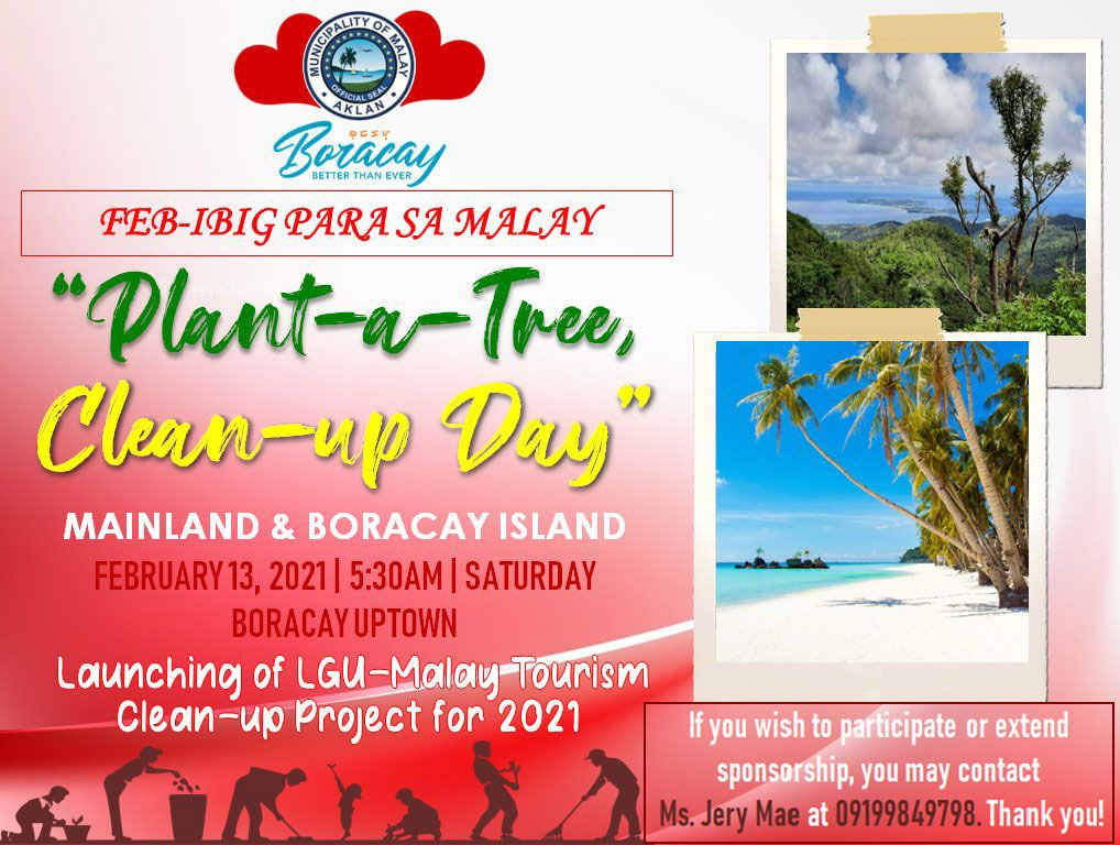 Plant a tree Clean up Day Boracay