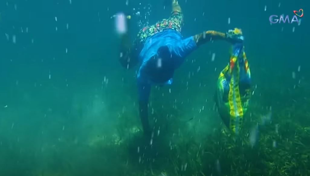 Diving for sea urchins